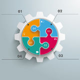 Barwiona okrąg łamigłówki przekładnia Infographic Obraz Stock
