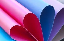 barwiona papierowa tęcza Zdjęcie Stock