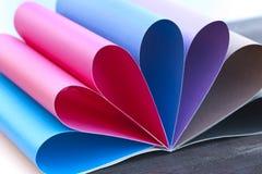 barwiona papierowa tęcza Obraz Royalty Free
