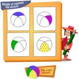 Barwiona piłka Obraz Stock