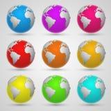 Barwiona planety ziemia Zdjęcie Stock