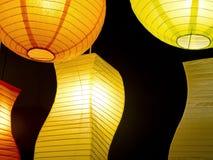 Barwiona round papieru lampa Fotografia Royalty Free