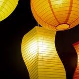Barwiona round papieru lampa Zdjęcie Stock