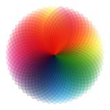 Barwiona round spirala royalty ilustracja