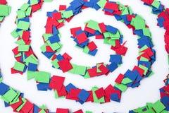 Barwiona spirala odizolowywająca w białym tle obrazy royalty free