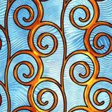 Barwiona szklana bezszwowa tekstura z wzorem dla okno royalty ilustracja