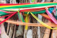7 barwiona tkanina na antycznym Obrazy Royalty Free