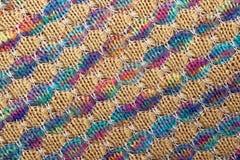 Barwiona trykotowa tkaniny tekstura, przekątna wzór obrazy royalty free