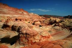 barwiona utworzeniu skały rdza fotografia stock