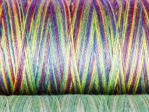 Barwiona włókno tekstura. Cewy Fotografia Stock