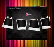 barwiona zasłony szablonu strona internetowa Zdjęcia Royalty Free