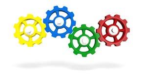Barwione łączy przekładnie Fotografia Stock