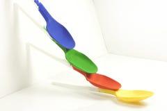 barwione łyżki Zdjęcia Royalty Free