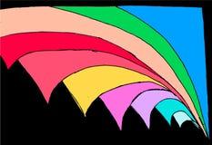 Barwione abstrakcjonistyczne geometrical postacie - kręcenie strona w przestrzeni ilustracja wektor