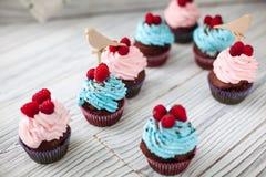 Barwione babeczki słodkie Zdjęcie Royalty Free