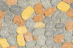 Barwione betonowe brukowanie płytki, bezszwowa tekstura fotografia royalty free