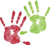 Barwione Children ręki Zdjęcie Royalty Free