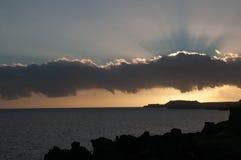 Barwione chmury przy zmierzchem Zdjęcia Stock