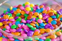 barwione czekolad pastylki Obrazy Stock
