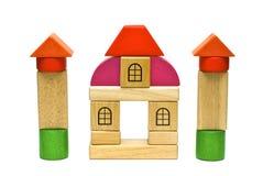 barwione drewnianych zabawek Obrazy Royalty Free