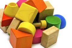 barwione drewnianych zabawek Zdjęcie Royalty Free