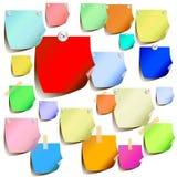 barwione etykietki Zdjęcie Stock
