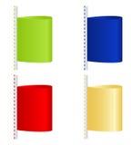 barwione etykietki Zdjęcia Royalty Free