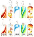 barwione etykietki różnorodne Zdjęcie Stock