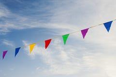barwione flagę Zdjęcia Stock