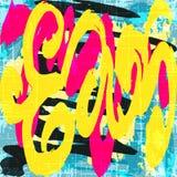 Barwione graffiti plamy na czarnej tła grunge teksturze ilustracji