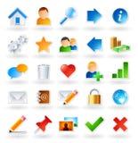 barwione ikony Obrazy Stock