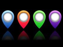 barwione ikony Zdjęcie Stock