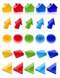 barwione ikony Zdjęcie Royalty Free