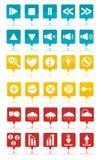 barwione ikony ustawiają sieć Obrazy Stock