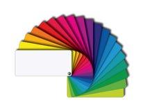 Barwione karty pobiera próbki wiązkę royalty ilustracja