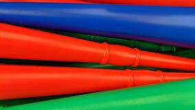 Barwione klingeryt formy ilustracja wektor