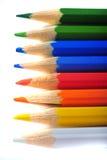 Barwione kredki Obrazy Stock