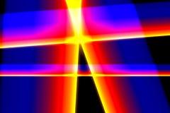 Barwione linie na czarnym tle Zdjęcie Royalty Free