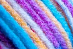 Barwione nici, makro- fotografia zdjęcie stock