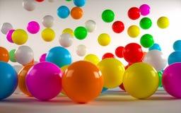 Barwione piłki Fotografia Stock