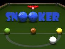 Barwione piłki dla billiards Zdjęcie Stock