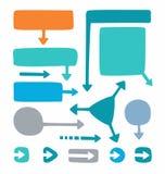 Barwione ramy i strzała dla infographic ilustracji
