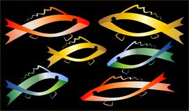 Barwione ryba Zdjęcie Royalty Free
