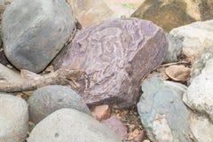 Barwione skały i kamienie zdjęcia royalty free