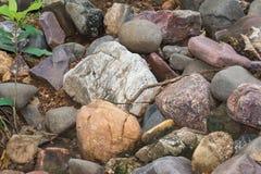 Barwione skały i kamienie obraz royalty free