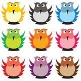 barwione sowy Obrazy Stock