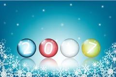 Barwione szklane piłki z 2017 nowy rok Zdjęcia Stock