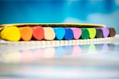 Barwione vax ołówka kredki Fotografia Royalty Free