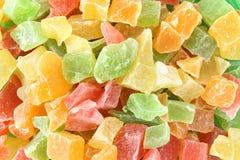 Barwione wysuszone owoc, candied owoc, jujuba obraz royalty free