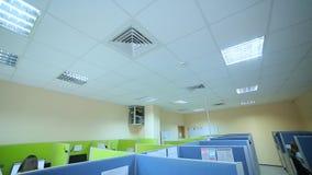 Barwionego biurowego centrum telefonicznego odgórny widok zdjęcie wideo